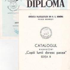 Bnk fil Expozitia filatelica Copiii lumii doresc pacea - Bucuresti 1986