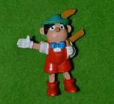Figurina, jucarie personaj desen animat  Pinocchio (Buratino), cauciuc, vintage