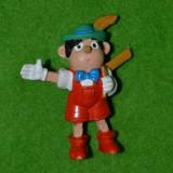 Figurina, jucarie personaj desen animat Pinocchio (Buratino), cauciuc, vintage - Figurina Povesti