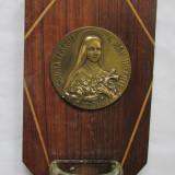 APLICA-SFANTA TERESIA-metal si lemn, vintage - Metal/Fonta