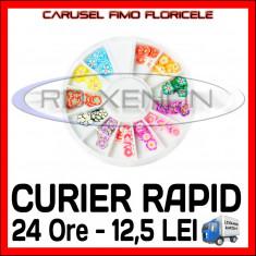 SET CARUSEL FIMO - MODEL CU FLORI - Decoratiuni unghii Sina NAIL ART