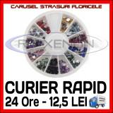 SET CARUSEL STRASURI - MODELE CU FLORI - DECORATIUNI UNGHII NAIL ART