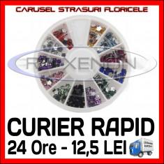 SET CARUSEL STRASURI - MODELE CU FLORI - Decoratiuni unghii Sina NAIL ART