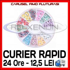SET CARUSEL FIMO - MODEL CU FLUTURI - DECORATIUNI UNGHII NAIL ART - Model unghii Sina