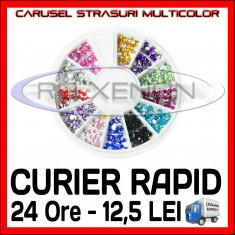 SET CARUSEL STRASURI - MODELE ROTUNDE DIVERSE CULORI - Decoratiuni unghii Sina
