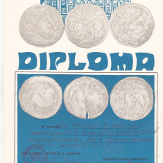 Bnk div - Lot 6 diplome expozitii numismatice