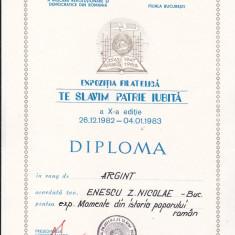 Bnk fil - Lot 6 diplome expozitii filatelice - AFR Bucuresti