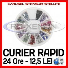 SET CARUSEL STRASURI - MODELE CU STELE - DECORATIUNI UNGHII NAIL ART