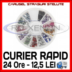 SET CARUSEL STRASURI - MODELE CU STELE - DECORATIUNI UNGHII NAIL ART - Model unghii Sina