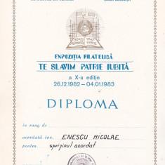 Bnk fil - Lot 5 diplome expozitii filatelice  - AFR Bucuresti