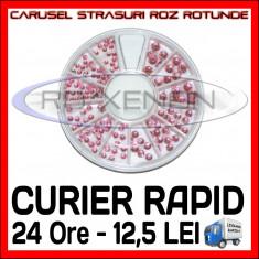 SET CARUSEL STRASURI - MODELE ROZ ROTUNDE - DECORATIUNI UNGHII MANICHIURA GEL UV, Sina