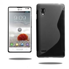 Husa LG Optimus L9 P760 TPU S-LINE Black - Husa Telefon LG, Negru, Gel TPU, Fara snur, Carcasa