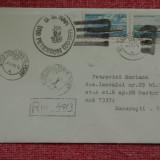 plic -  stampila nava / vapor US Navy - USS Peterson DD 969 - 1988 Constanta !!