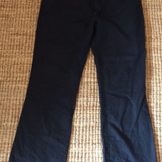 Pantaloni originali de dama Trussardi - Pantaloni dama Trussardi, Marime: Alta, Culoare: Negru, Lungi, Bumbac