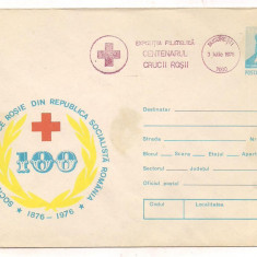% plic--(intreg postal)-EXPOZITIA FILATELICA CENTENARUL CRUCII ROSII 1976