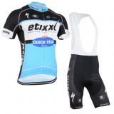 echipament ciclism complet etixx quick step set pantaloni  si tricou marime S
