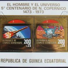 GUINEEA EQ. 1973 - COSMONAUTICA 1 S/S, OBLITERATA CU FOLIE AUR - GEQS 021