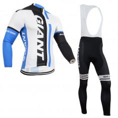 Echipament ciclism complet iarna toamna giant set cu thermal fleece, Tricouri