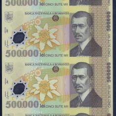 ROMANIA COALA NETAIATA ( UNCUT ) 500000 500.000 LEI 2000 POLIMER sem GHIZARI UNC - Bancnota romaneasca