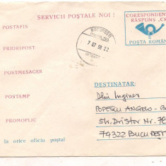 % plic--(intreg postal)-SERVICII POSTALE NOI, An: 1976