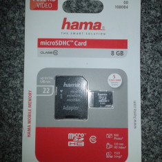 MicroSDHC 8 GB Hama Clasa 10 / Micro SDHC 8 GB Hama Clasa 10 / Micro SD 8 GB - Card memorie