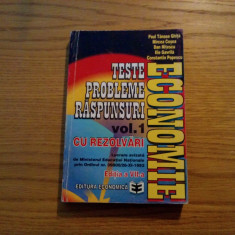 ECONOMIE * Teste * Probleme * Raspunsuri * vol I cu Rezolvari - M. Cosea - 1997 - Carte Marketing