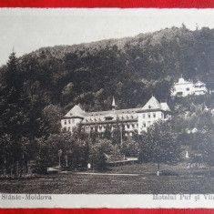 AKVDE - Vedere - Slanic Moldova - Hotelul Puf si Vila Langa - Carte Postala Banat 1904-1918