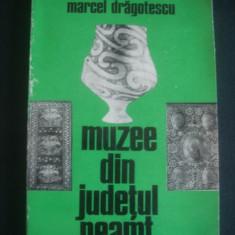 MARCEL DRAGOTESCU - MUZEE DIN JUDETUL NEAMT - Carte de calatorie