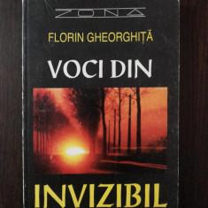 VOCI DIN INVIZIBIL -- Florin Gheorghita -- 1995, 224 p. - Carte paranormal