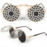 Ochelari Rotunzi Flip-Flop - model STEAMPUNK/GOTHIC - protectie UV400 - Unisex