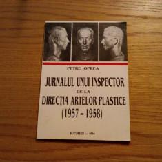 JURNALUL UNUI INSPECTOR de la DIRECTIA ARTELOR PLASTICE - Petre Oprea - 1996 - Carte Istoria artei