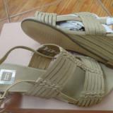 Sandale chic de vara, 37, Bej, Piele sintetica