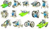 SET EDUCATIONAL 14in1 ,SE POT CONSTRUI 14 ROBOTI SI VEHICULE CU ENERGIE SOLARA.