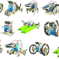 SET EDUCATIONAL 14in1 ,SE POT CONSTRUI 14 ROBOTI SI VEHICULE CU ENERGIE SOLARA., Alte materiale, Unisex