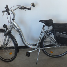 Bicicleta MARVEL Elegance - Bicicleta de oras, 24 inch, 27.5 inch, Numar viteze: 7, Aluminiu, Gri metalizat
