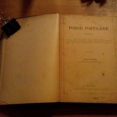 POESII POPULARE ROMANE * culegere de G. Dem. Teodorescu -- Bucuresci, 1885 - Carte veche