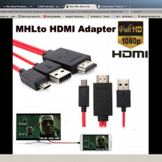 MHL Micro USB 11pin to HDMI HDTV Samsung Galaxy Note 3, Samsung Galaxy Note 4 - Adaptor HDMI