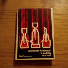 DIAGNOSTICUL DE LABORATOR IN MEDICINA VETERINARA - E. Onet, V. Constantinescu - Carte Medicina veterinara