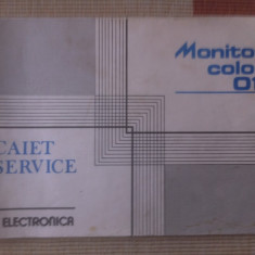 Monitor color 011 electronica tehnica scheme caiet service hobby - Carti Electronica