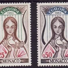 Monaco 1963 - cat.no.618-9 neuzat,perfecta stare