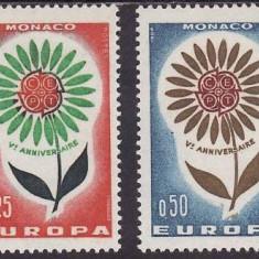 Monaco 1964 - cat.no.652-3 neuzat,perfecta stare