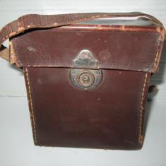 Cutie aparat Foto vechi piele perioada 1900-1930. - Aparat de Colectie