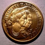 7.333 MEDALIE ELIZABETH II PHILIP EDINBURGH 29mm