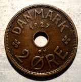 F.050 DANEMARCA 2 ORE 1927 N GJ VARIANTA, Europa