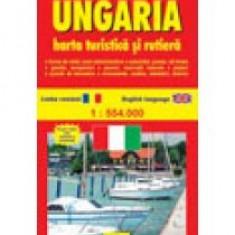 Ungaria. Harta turistica si rutiera - 8841 - Harta Europei