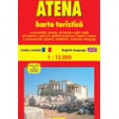 Atena. Harta turistica si rutiera - 8662 - Harta Europei