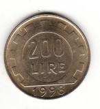 Italia 200 lire 1998, Europa