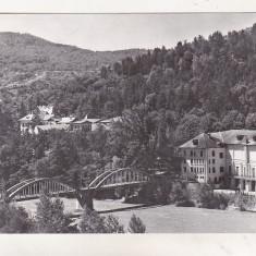 Bnk cp Calimanesti - Pod peste Olt - uzata - Carte Postala Oltenia dupa 1918, Circulata