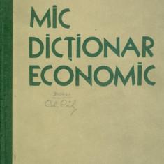 Mic dictionar economic/Cartonata(hardcover) - 26803 - DEX