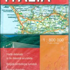 Italia. Harta rutiera - 6768 - Harta Europei